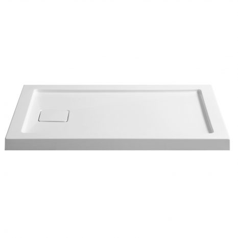 Fissure Series 36 in. x 48 in. Single Threshold Shower Base in White