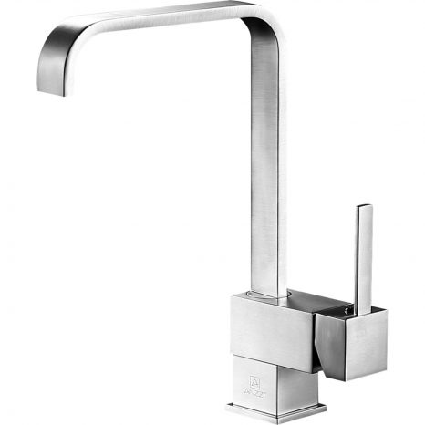 Del Moro Single-Handle Pull-Out Sprayer Kitchen Faucet in Brushed Nickel