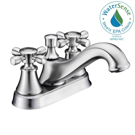 Khone 2-Handle Claw Foot Tub Faucet with Hand Shower in Brushed Nickel