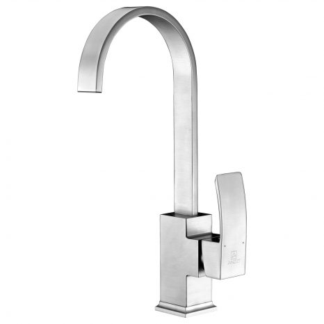 Step Single Handle Pull-Down Sprayer Kitchen Faucet in Polished Chrome