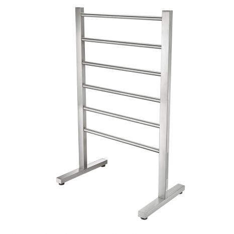 Kiln Series 6-Bar Stainless Steel Floor Mounted Electric Towel Warmer Rack in Polished Chrome