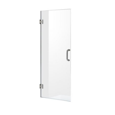 Lancer 29 in. x 72 in. Semi-Frameless Shower Door with TSUNAMI GUARD in Polished Chrome