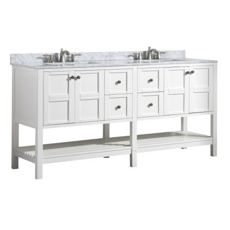 Conques 39 in. W x 20 in. H Bathroom Vanity Set in Rich Umber