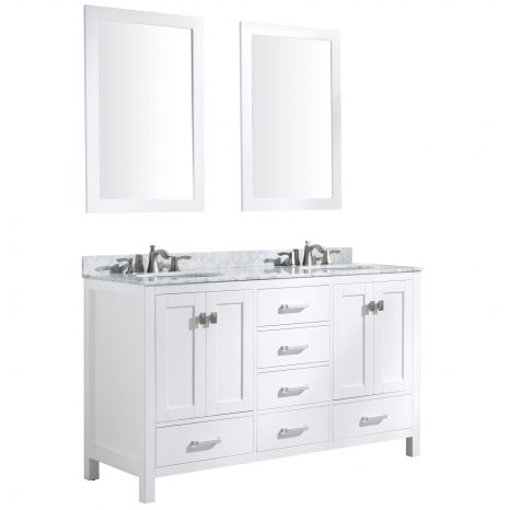 Conques 30 in. W x 20 in. H Bathroom Vanity Set in Rich Umber